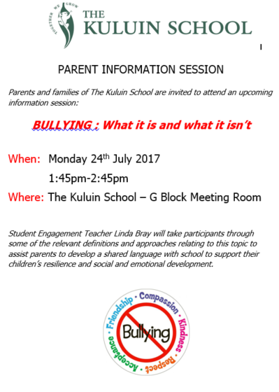 Parent Information Session - Bullying